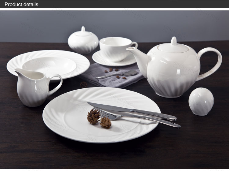 Alibaba Durable White China Geschirr Set Porzellan Teller Set