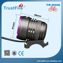 High power Bicycle Led light TrustFire D006 flashing led bike light with external battery pack,led charging classic bike light