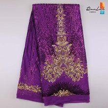 Высококачественная африканская кружевная ткань с золотыми блестками Tissu, индийская свадебная ткань, французская швейцарская вуаль, сетчат...(Китай)