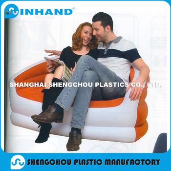 Intex Inflatable Corner Sofa Pvc Flocking Blow Up Sofa For