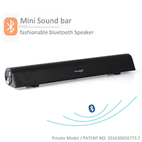 Unique design Bluetooth Stereo Speaker Mini Sound bar for TV and Computer with USB Audio