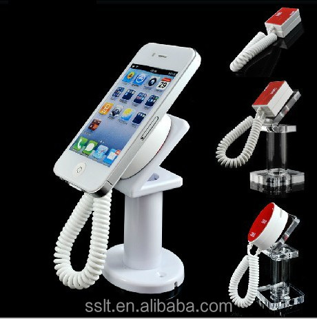 Mobile phones display Alarm charger anti-theft display stand mobile phone security holder