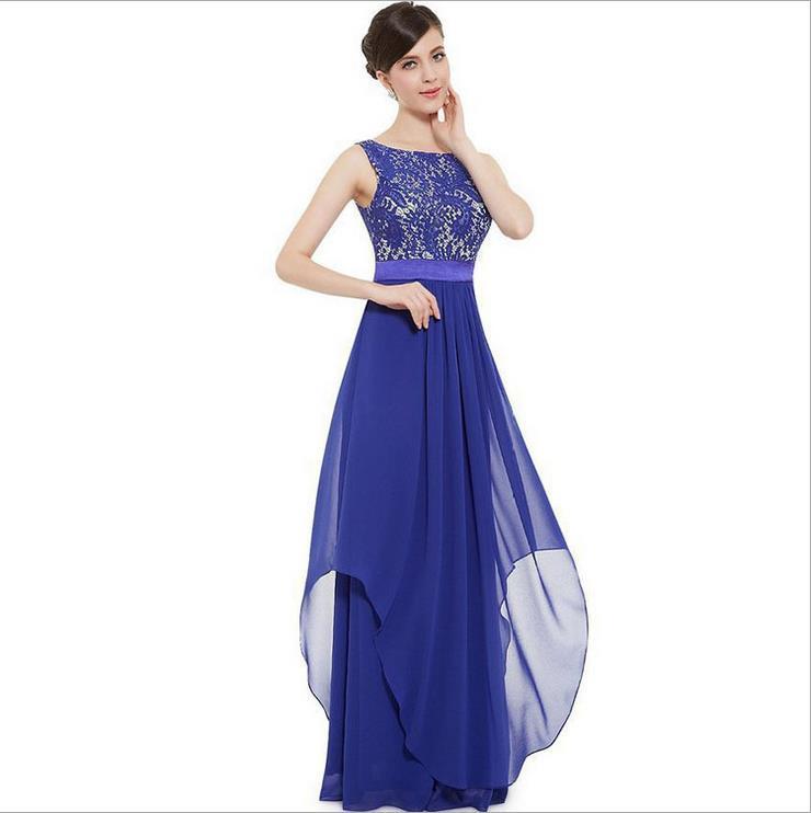 Neueste Design Damen Bekleidung Elegent Maxi Formales Kleid Spitze ...
