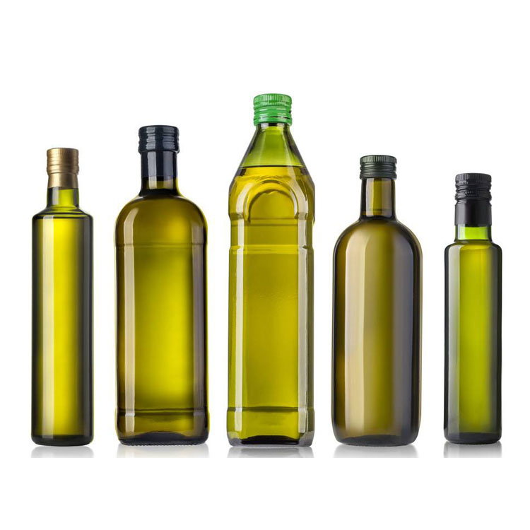 factory price custom shape color size empty clear dark green olive oil packaging bottle for olive oil