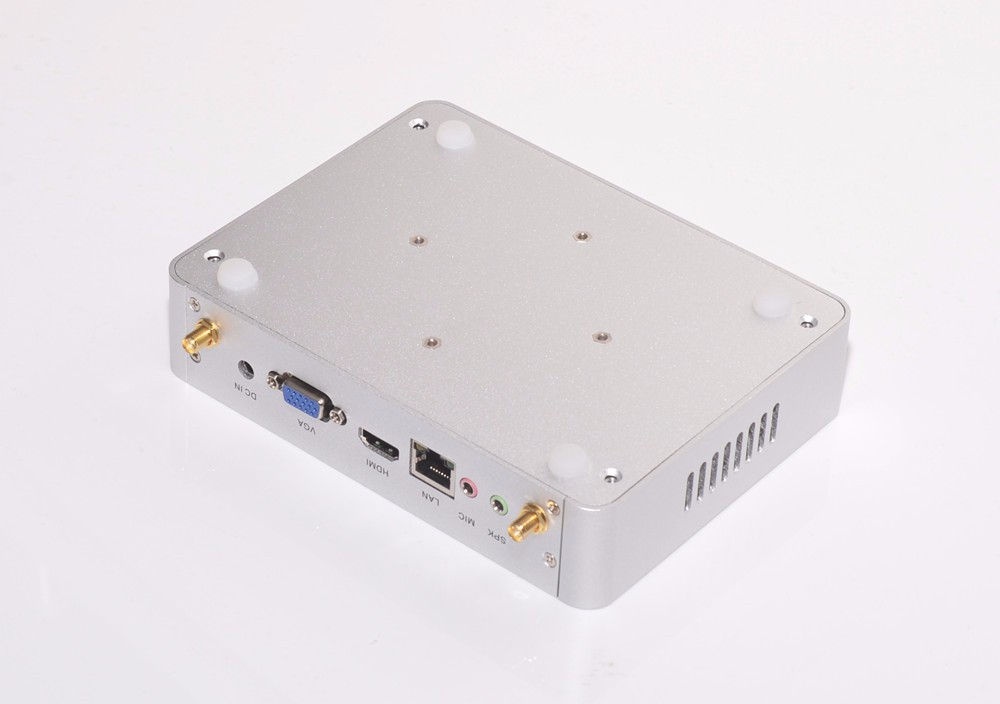 Eglobal Fanless ITX 5th Gen Mini PC M3-5005U Wins 8 Intel Core i3-5005U 2.0 GHz 300M WIFI 4k Silver Aluminum Alloy