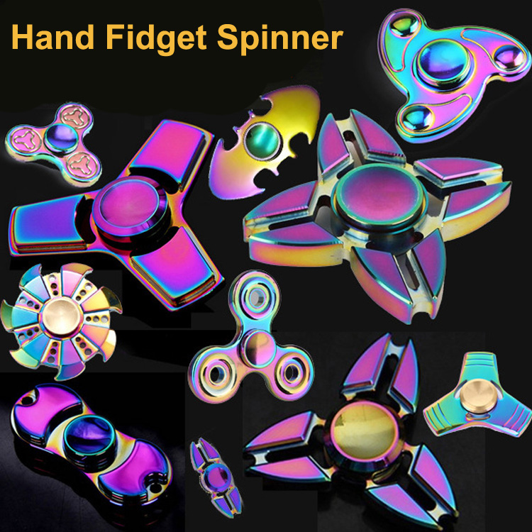 2017 Best Selling Products Alloy Hand Spinners Toys Ceramic Bearing Batman Tri Metal Hand Rainbow Fidget Spinner