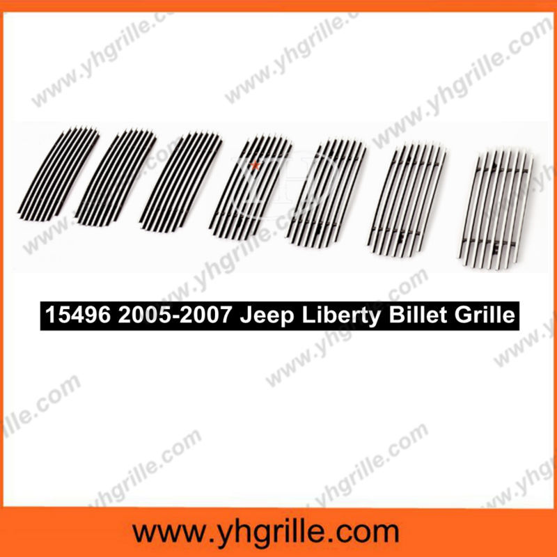 Factory Wholesale 2005-2007 Jeep Liberty Not For Renegade Main Upper Aluminum Billet Grille
