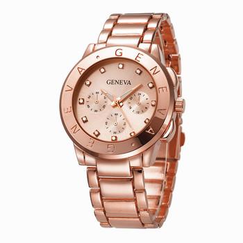 d13d5318848b 2018 OEM cheap price japan movt geneva watch stainless steel back fashion  high quality wholesale bracelet
