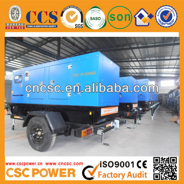 CSCPOWER ! Moving diesel generator 80kw for sale
