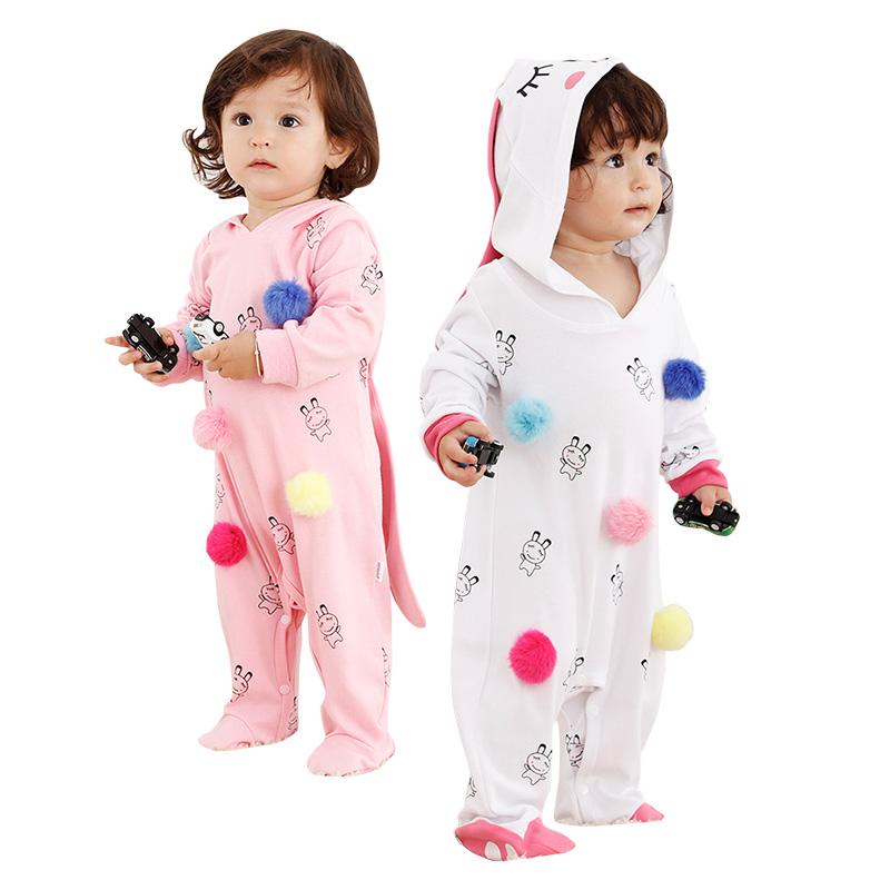 Rabbit With Pom Pom Cartoon Baby Pijamas Children Pajama Animal фото