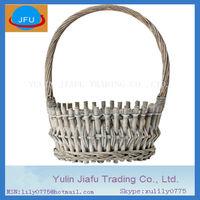 willow basket 100% handmade weaving round white wash wicker gift basket