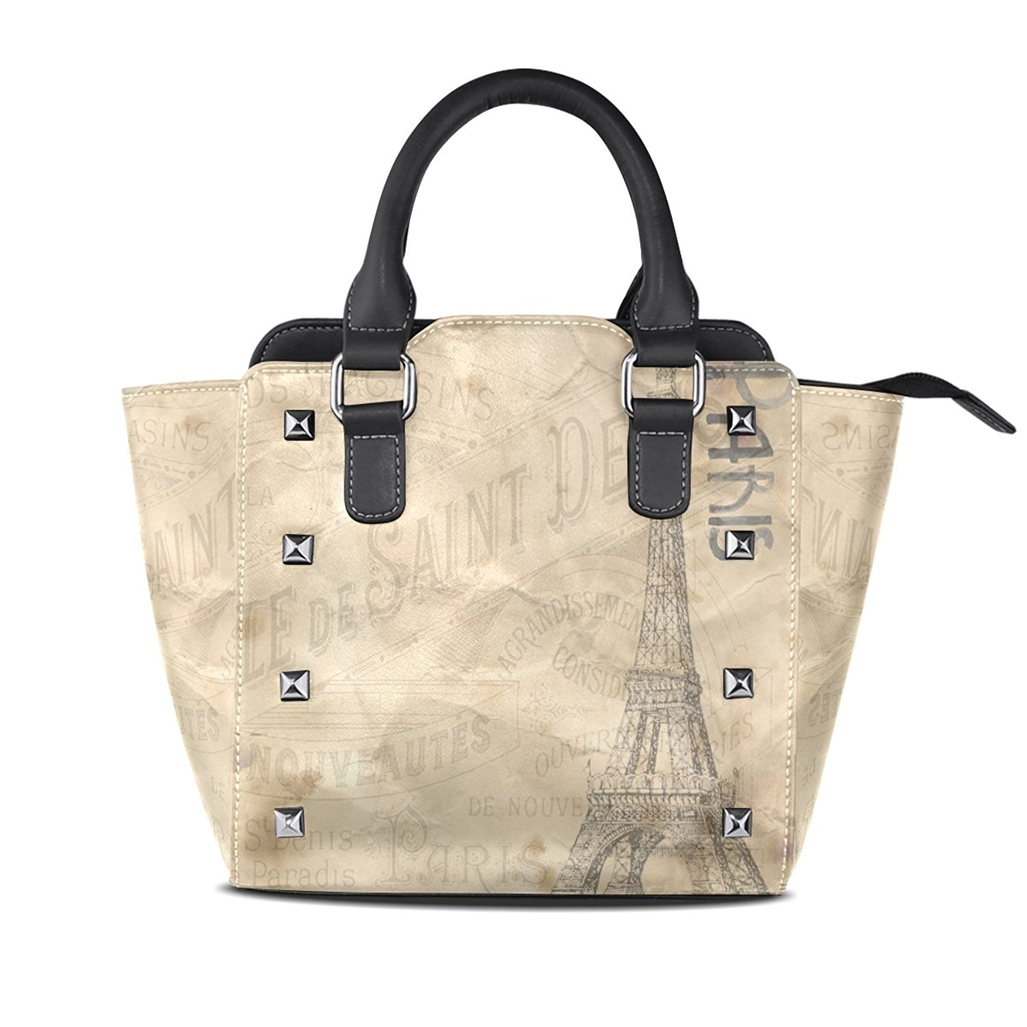 5991195131 Get Quotations · Womens French Tower Leather Handbags Purses Shoulder Tote  Satchel Bags