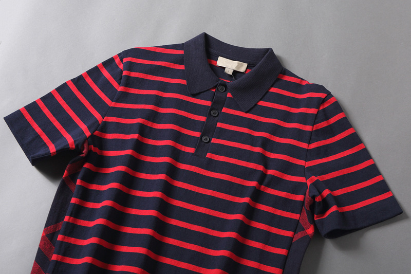 High quality striped cotton golf pique custom mens polo shirt for adults