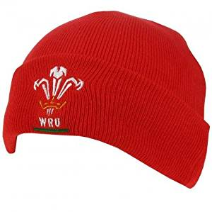 8cc0d2c8f89 Get Quotations · Wales RFU Wales R.U. Knitted Hat Tu Turn Up Knitted Hat  Adults One Size Fits All
