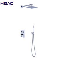 Square shower head complete shower system rainfall faucet