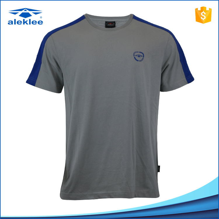 Custom Made 65%Cotton 35% Polyester Round Neck Short Sleeve t shirts Blank mens T-Shirt