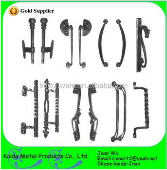 Various Morden Double Wrought Iron Long Door Pulls Handles For Sales ...