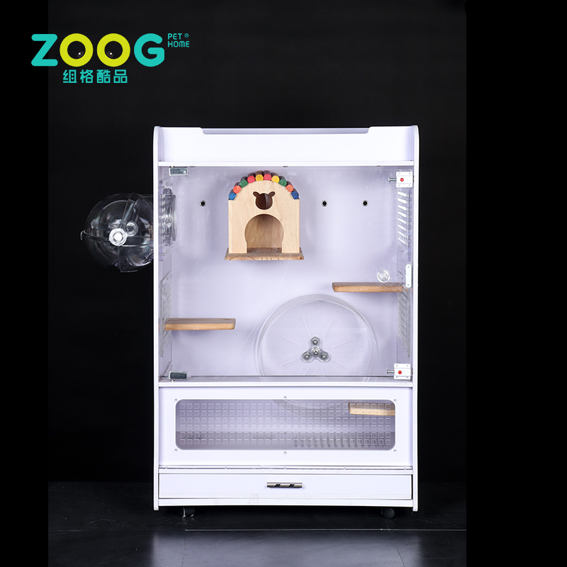 Indoor acrylic Chinchilla House cage for Small Pet