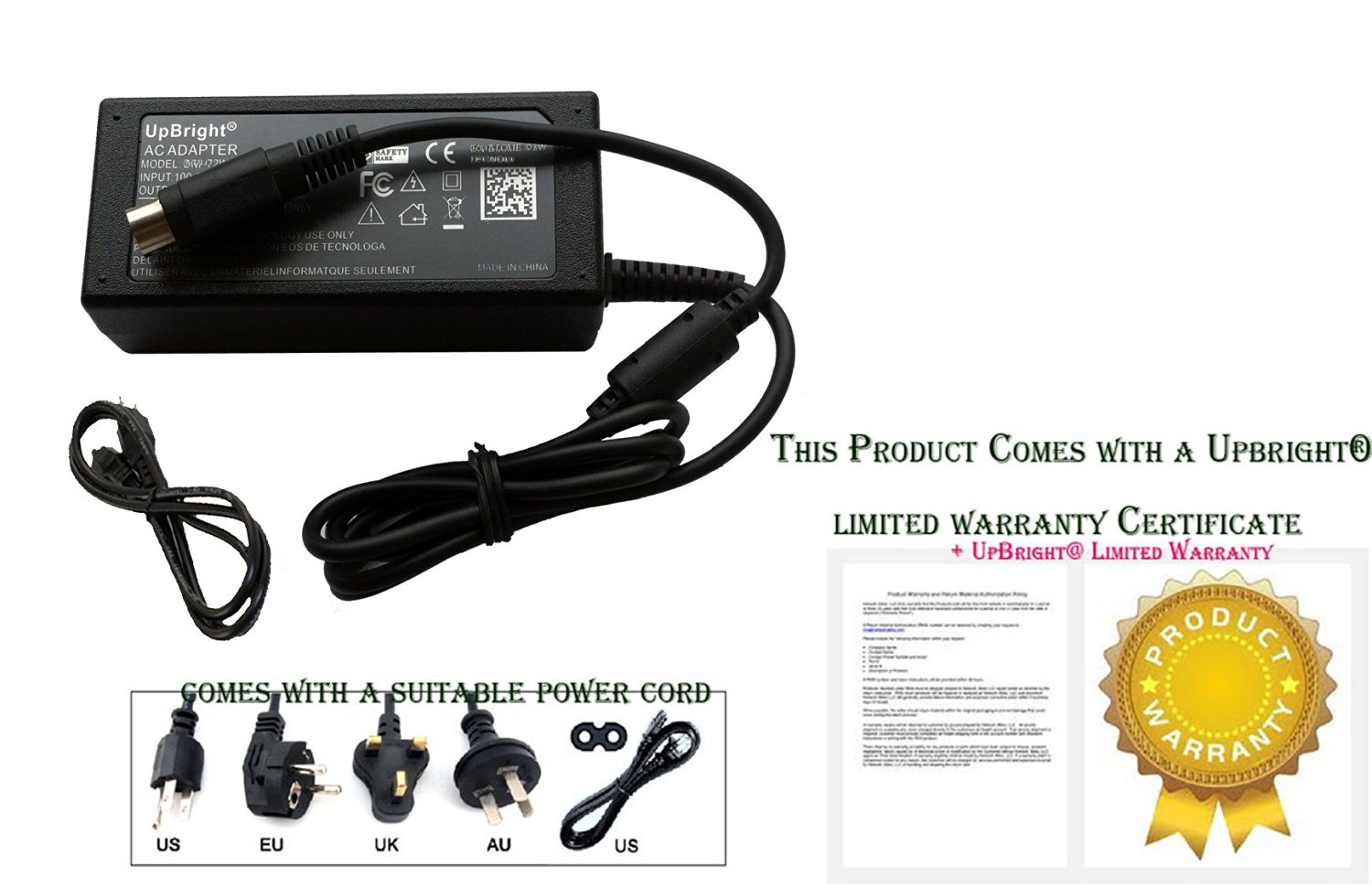Buy UpBright® 4 Pin AC adapter For Western Digital WD