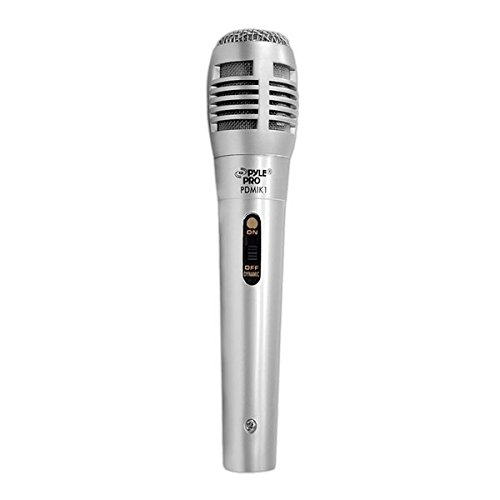 Pyle Pro Wired Dynamic Microphone - Professional Moving Coil Unidirectional Handheld Mic with Built-in Acoustic Pop Filter, Rugged Construction, Steel Mesh Grill, 6.5 ft XLR Audio Cable Wire - PDMIK1