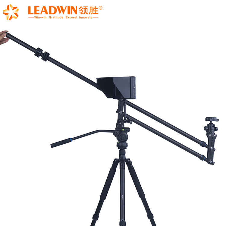 Leadwin nice sales professional photography accessories camera crane jib with portable carbon fiber rocker arm,jib crane camera