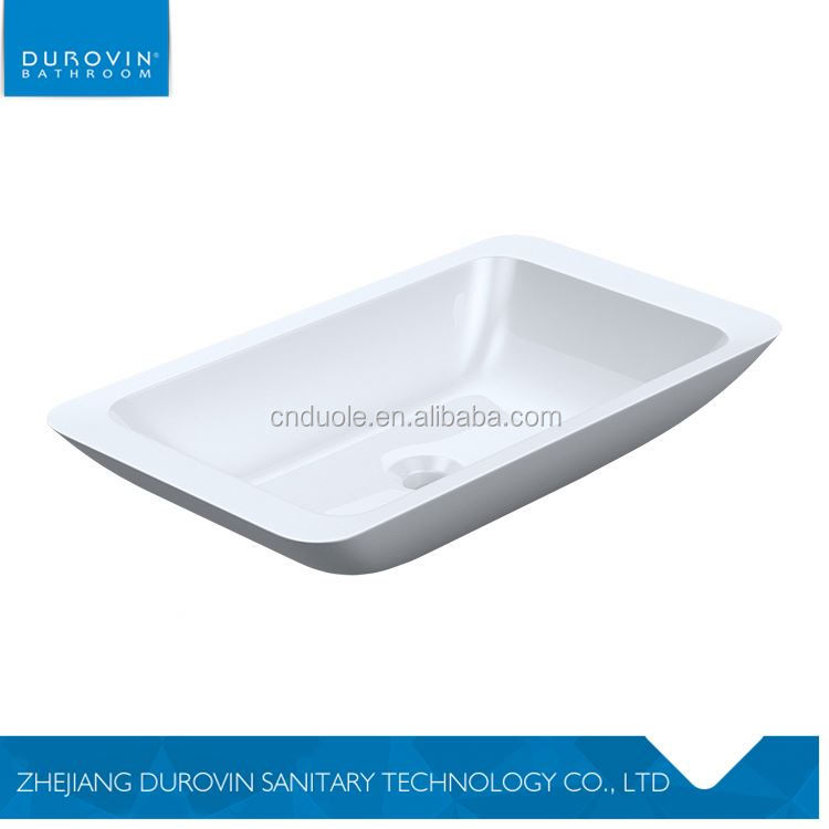 Factory supply availability eco-friendly white simplicity mineral cast wash basin