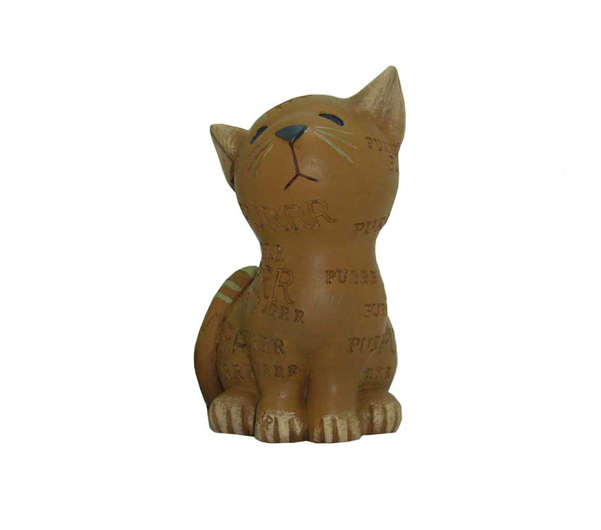 orange cat animal craft home decoration resin sculpture