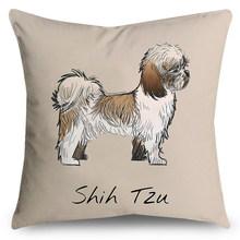 Мультяшная Милая наволочка с принтом собаки из полиэфирного волокна для дома, мягкая Автомобильная наволочка для дивана, декоративная наво...(Китай)