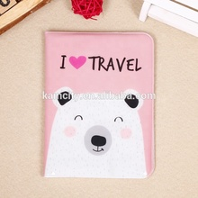 Belle conception De Voyage Brillant PVC Couverture de Passeport ou Passeport Portefeuille