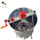 New products 4 frames manual hand crank honey centrifuge machine stainless steel bee honey extractor