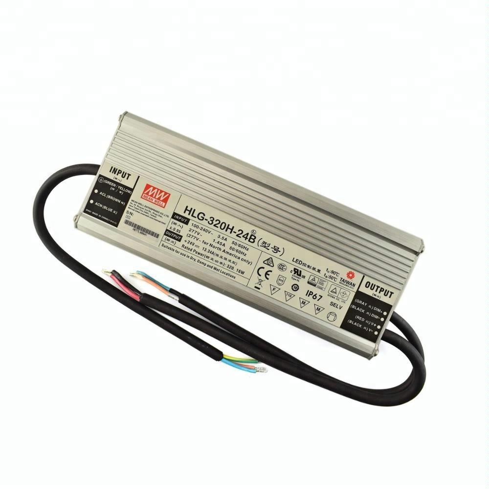 1 item s MEAN WELL HLG-320H-42A 320 W Single Output 7.65 A 42 Vdc Output Max IP65 Switching Power Supply