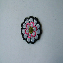 neck embroidery logo patches for clothing