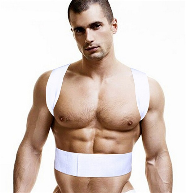 Wholesale High QualityAdjustable Magnetic Therapy Posture Shaper Or Back Posture Corrector, White;black