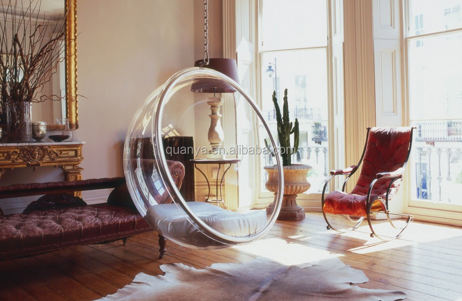 Clear acrylic hanging bubble chair / Bubble Swing Chair for HOME