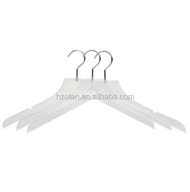 Factory Wholesale Customized Acrylic Clothes Hanger Luxurious Look Clear Coat Hanger