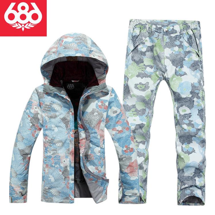 Special Off2015 686 Womens Snowboarding Suits Jacket Pants Warm Waterproof Ski