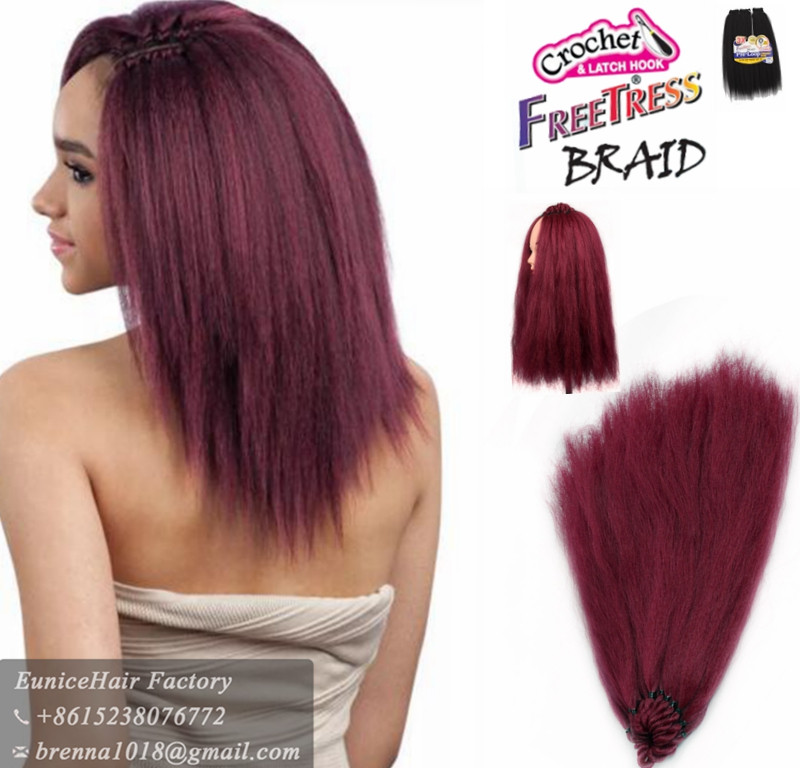 Very cheap human hair feeling no shedding hair extensions expression braid yaki kinky strraight african cochet hair extension