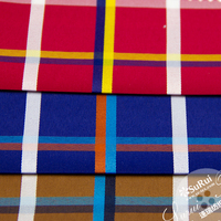 poly cotton woven plaid pattern yarn dyed fabric used clothing