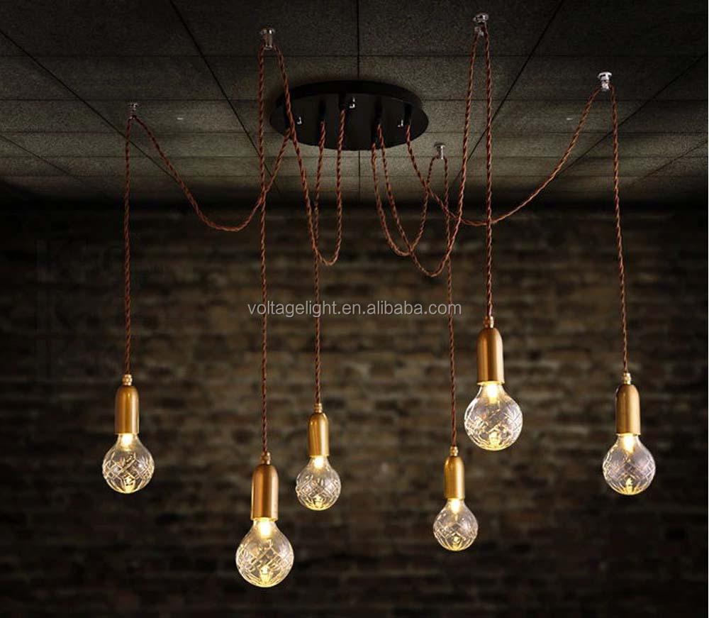 nieuwe producten leidde decoratieve vintage industrile murano glas opknoping hanglamp modern plafond verlichting