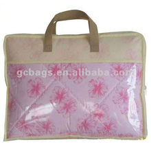 Factory price bedding foldable pvc zipper pillow carry bag
