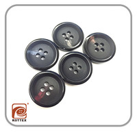 Chinese Custom 4 Holes Imitation Plastic Resin Horn Buttons Fashion Button For T Shirt And Suit Has Stock