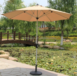 Rain Resistant Garden Folding Umbrella,Patio Umbrella Custom With Water Base