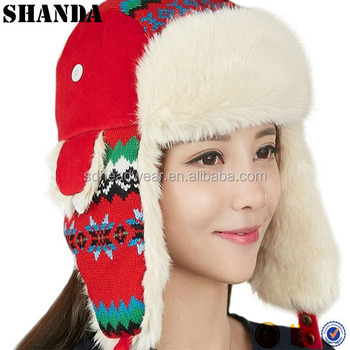 winter russian hat with fur  faux fur trapper hat russian fur hat pattern 1a9a9bf34e1