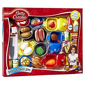 Betty Crocker Fun, Colorful, Pretend Play Pots and Pans 43-Piece Set