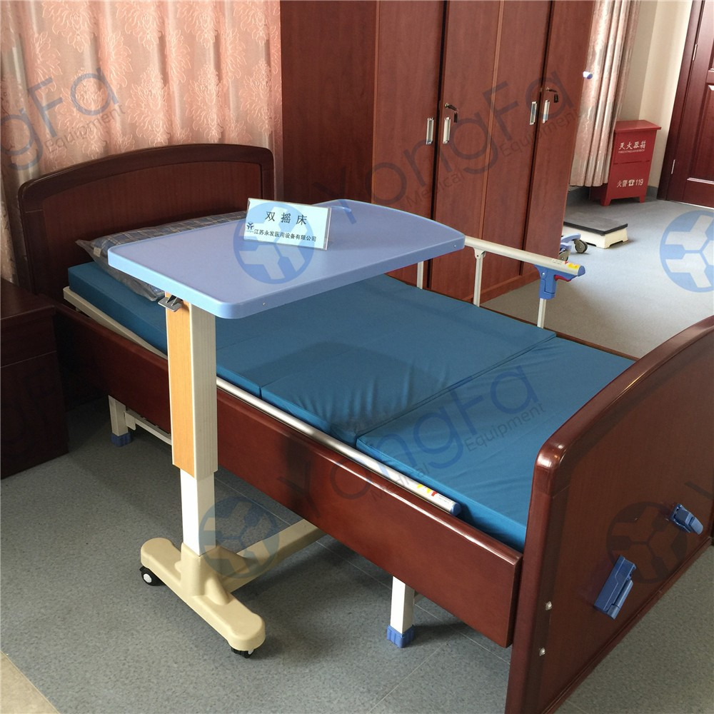 YFT-001 Hospital Furniture Movable Over Bed Table For Patient Dining