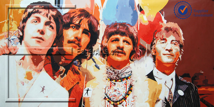 The Beatles Modern Pop Art Painting