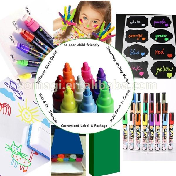 6mm Art Set Pen Stationery Manufacturer Permanent Unpermanent Marker Pen  Non Toxic Skin Safe Marker Dry Erase Markers - Buy Permanent Unpermanent