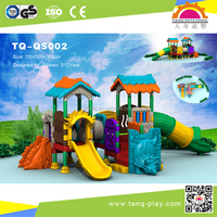 Whole plastic play structure kindergarten outside ground play equipment kids playground outdoor games