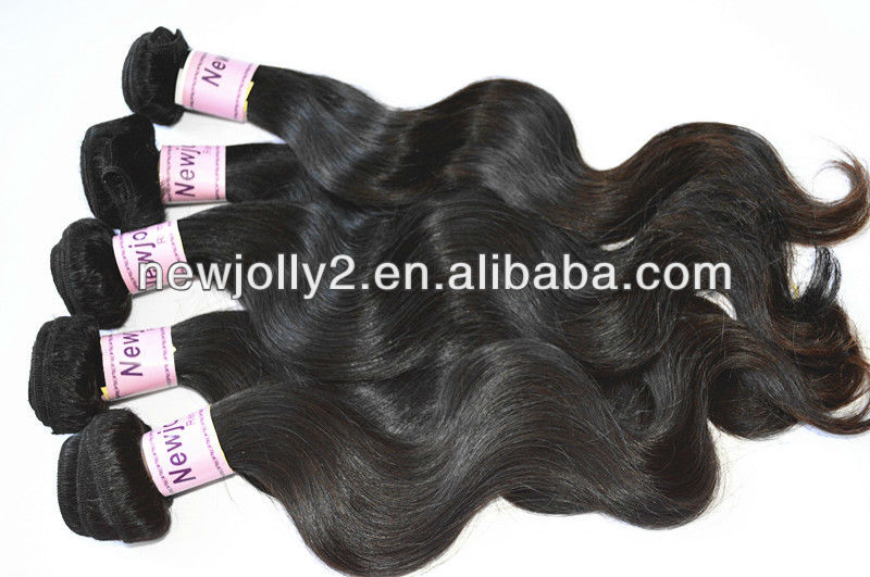 hot sale beauiful vrigin malaysian body wave hair weave newjolly hair products