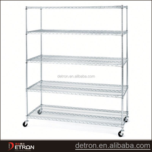 Space saving stable epoxy black wire shelving for home use
